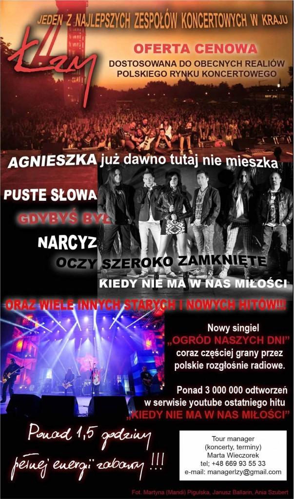 Łzy - propozycja koncertowa